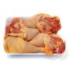 Muslos de pollo de maiz