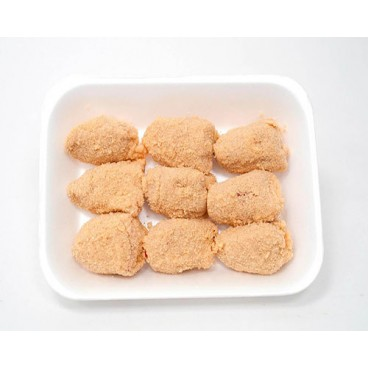 Pimientos rellenos de bechamel y pollo